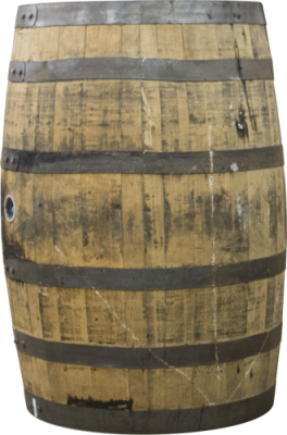 Barrel of Woodford Reserve rye whiskey