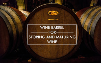 Wine Barrel for Storing and Maturing Wine